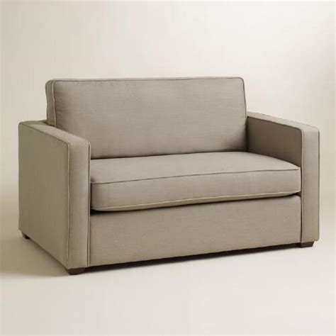 World Market Sleeper Sofa by Pebble Gray Chad Chair And A Half Sleeper World Market