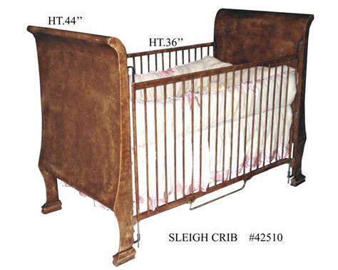sleigh bed crib bronze sleigh crib