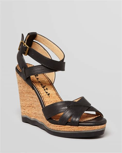 Sandal Wedges Bunga Af13 11 lyst splendid platform wedge sandals cork in black