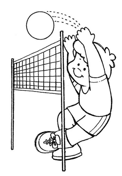 cartoon volleyball coloring page 73 best sports coloring pages images on pinterest