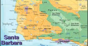 santa barbara on map of california tourist map of santa barbara city pictures california