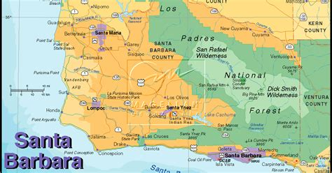 of california santa map tourist map of santa barbara city pictures california