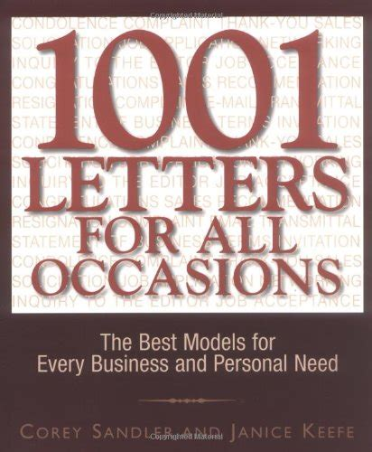 business letters for all 1001 letters for all occasions the best models for every