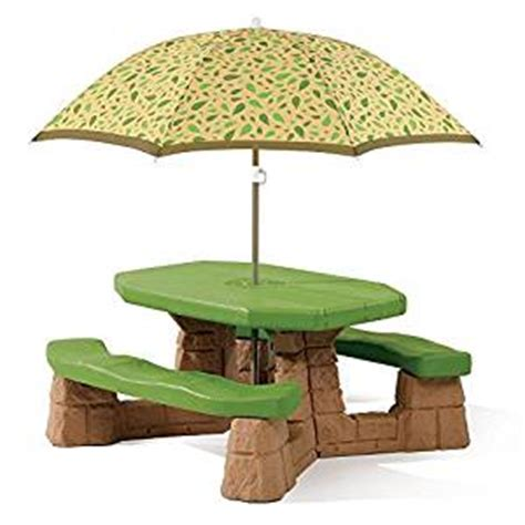 Step2 Naturally Playful Picnic Table With Umbrella by Step2 Naturally Playful Picnic Table With