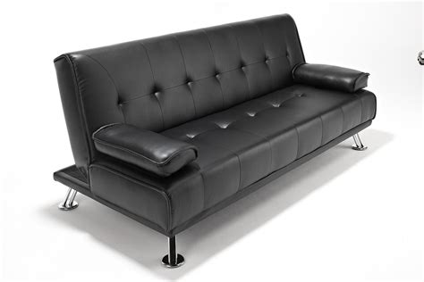 faux leather futon sofa bed faux leather sofabed futon sofa bed with chrome feet by
