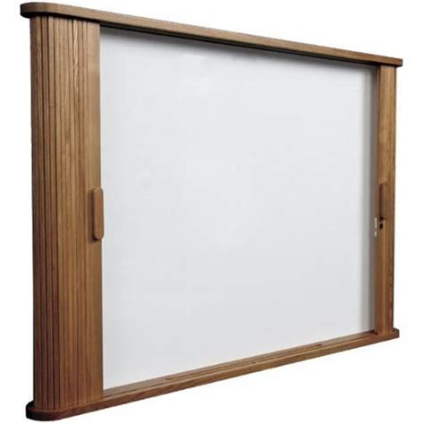 Locking Dry Erase Cabinet Mahogany Or Oak Finished Trim