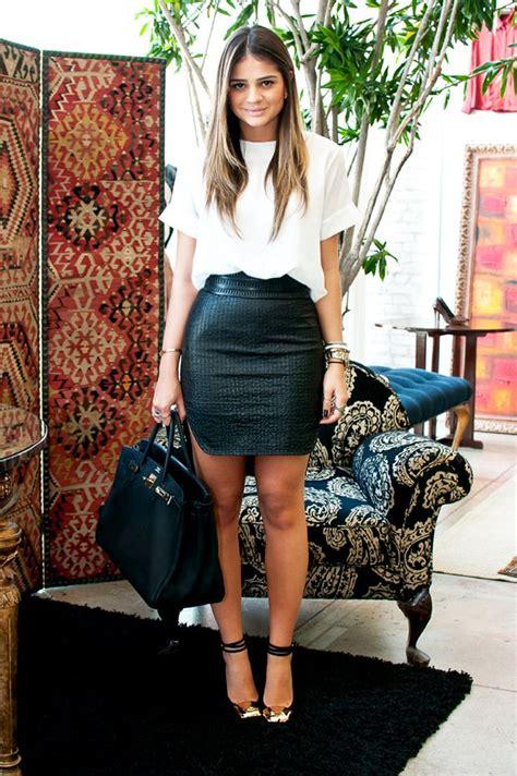 white t shirt black pencil skirt accessories my