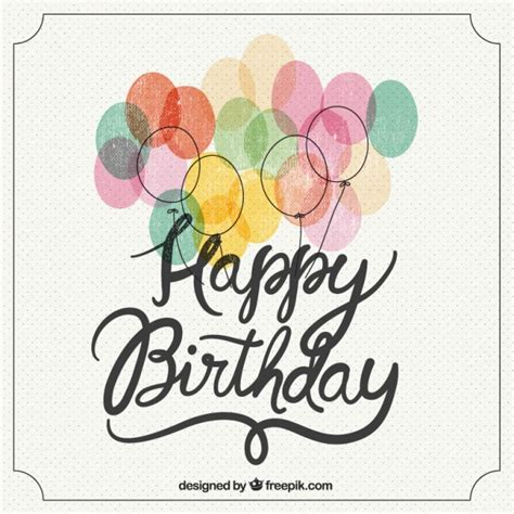 happy birthday vintage design happy birthday retro lettering vector free download