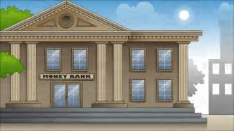 Shop Building Designs Exterior Of A Large City Bank Background Cartoon Clipart