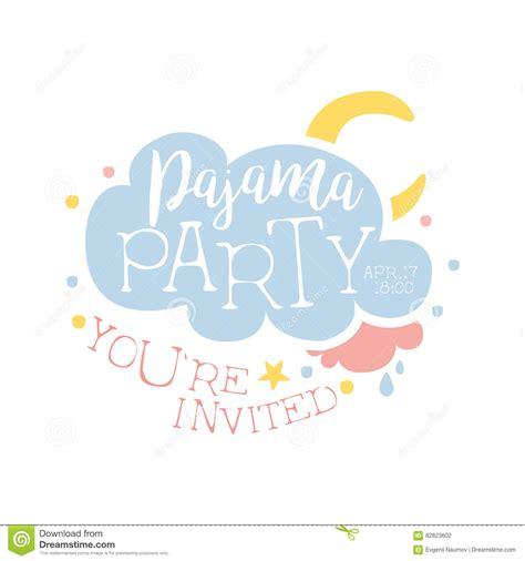 Moon Invitation Card Template by Girly Pajama Invitation Card Template With Cloud And