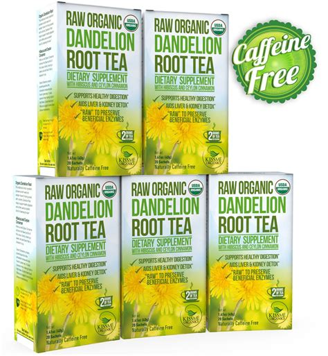 Roasted Dandelion Root Tea Detox by Alvita Tea Bags Milk Thistle 24 Tea Bags