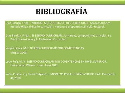 Diseño Curricular Por Competencias Diaz Barriga Fases Dise 241 O Curricular Por Competencias