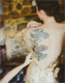 back tattoo what to wear 14 beautifully tattooed brides on their wedding day