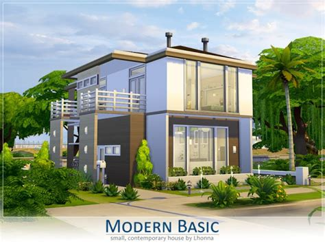 the basic house the sims resource modern basic by lhonna sims 4 downloads