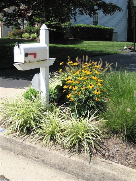 mailbox flower bed idea here ideas for landscaping around mailbox