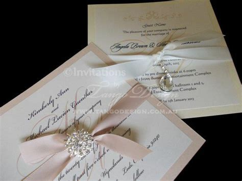 diy wedding invitation kit for 10 invitations do it yourself invites w brooch ebay