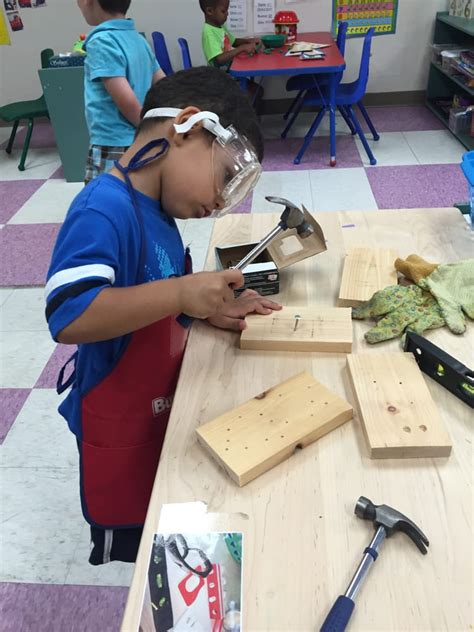 preschool woodworking each preschool room has a woodworking center where