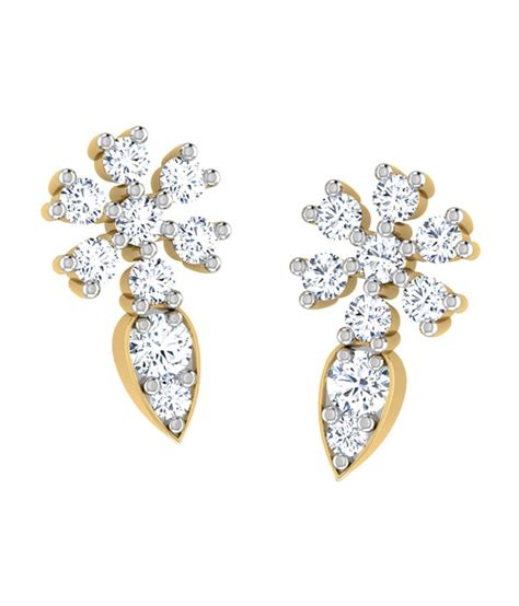 flower design earrings online caratlane classy flower design stud earrings buy