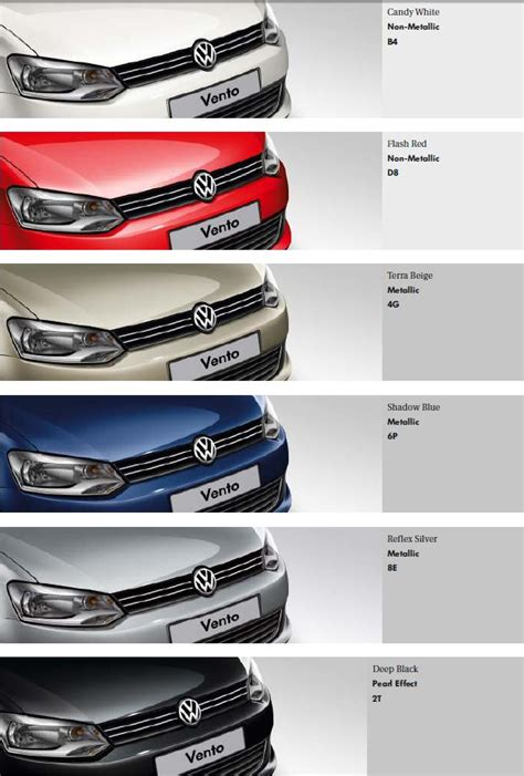 volkswagen vento colours volkswagen polo colours