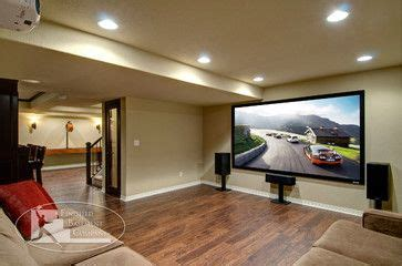 basement theater space features  large projection