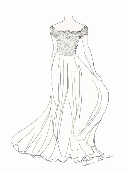 how to draw boat neckline wedding dresses drawing at getdrawings free for