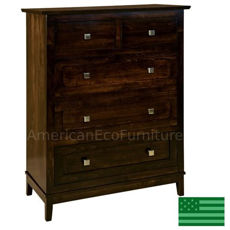 Solid Wood 5 Drawer Chest by Made In Usa Amish Maarten 5 Drawer Chest Solid Wood