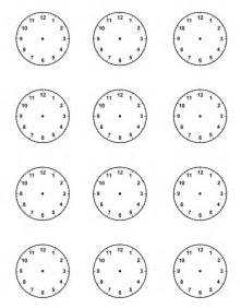 Blank Clock Template by Blank Clock New Calendar Template Site