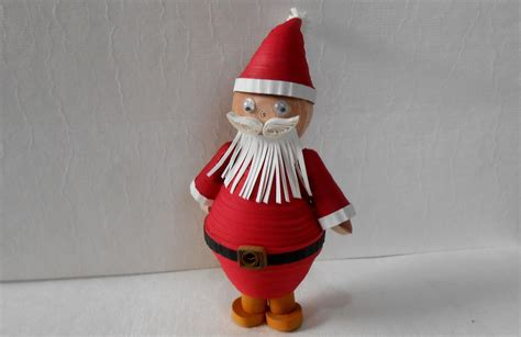 How To Make A 3d Santa Out Of Paper - 3d quilling santa special tutorial