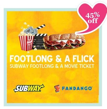 Fandango Gift Card Costco - 11 for a 5 subway gift card a fandango movie ticket valued at 12