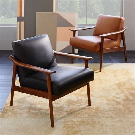 west elm mid century leather recliner mid century leather show wood chair west elm