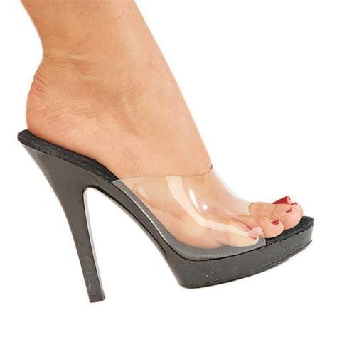 high heel mules high heels heels mules fabulicious lip 101 clear black