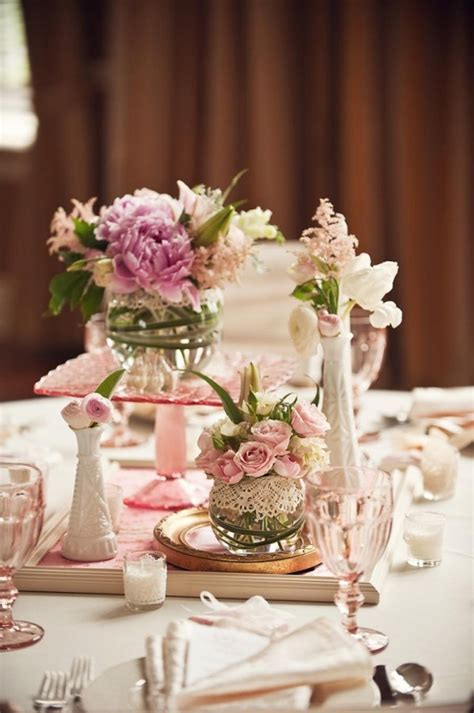 glass vases centerpieces ideas lace wrapped glass vases unique centerpiece ideas elizabeth designs the wedding