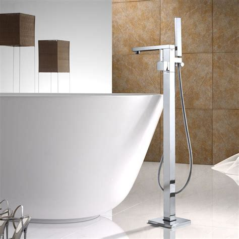 bathtub filler modern clawfoot tub filler faucet floor standing bathtub in chrome free shipping ebay