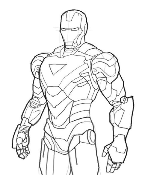easy iron man coloring page iron man coloring pages ironman mark06 iron man coloring