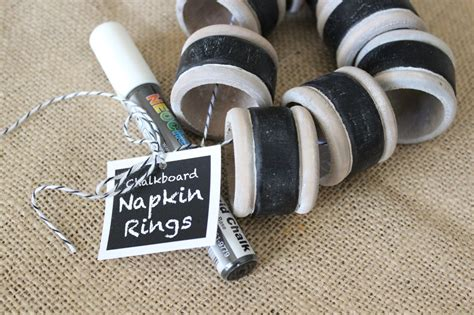 Chalkboard Napkin Ring It Or It by Our Nesting Ground Chalkboard Napkin Rings