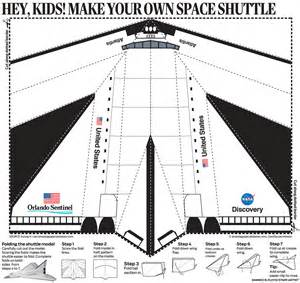 paper airplane templates inside the orlando sentinel s space shuttle special