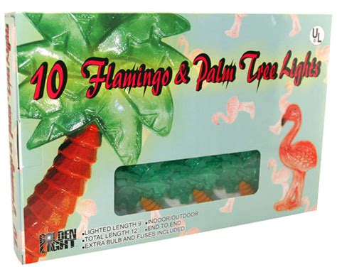 pink flamingo patio lights pink flamingo palm tree string lights novelty string