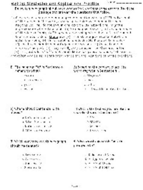 Editing And Revising Worksheets by 11 Best Images Of Free Biology Worksheets With Answers