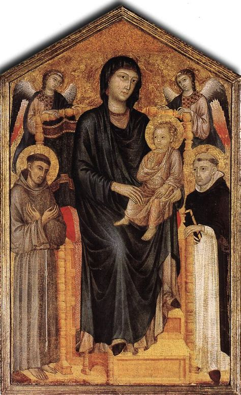 tavola centinata file madonna enthroned with the child st francis st
