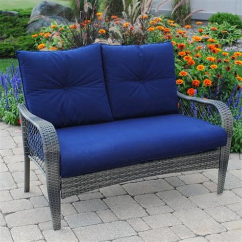 Menards Outdoor Patio Furniture Backyard Creations Aspen Loveseat At Menards 174