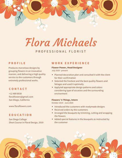 Wallpapers Designs For Home Interiors cream with floral border creative resume templates by canva