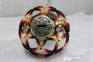 native american handmade beaded christmas tree ornament holiday ball kiowa color other