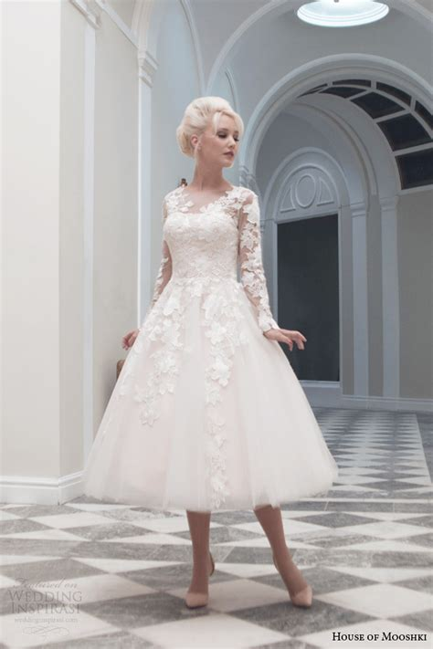 hochzeitskleid mittellang house of mooshki fall 2014 wedding dresses wedding