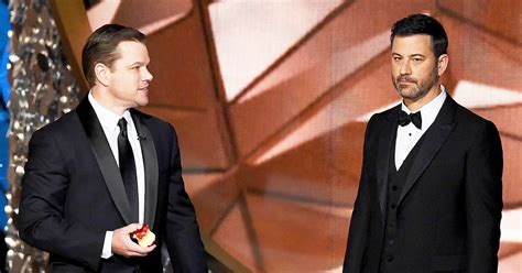 jimmy kimmel hair loss emmys 2016 matt damon mocks jimmy kimmel s loss us weekly