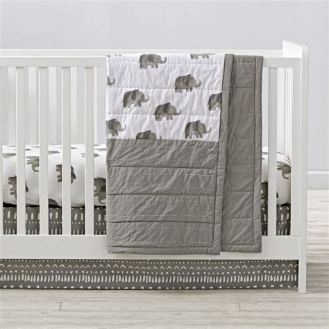 elephant nursery bedding sets boys crib bedding sets the land of nod