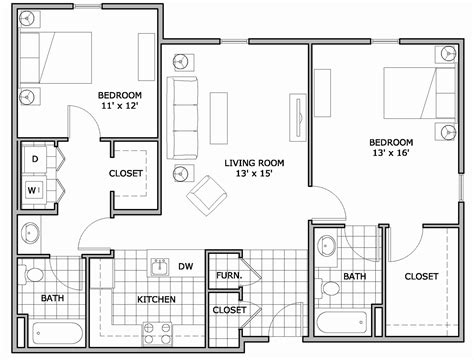 floor plan of two bedroom house house plan gallery luxury incredible floor plans for two