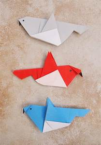 Paper Folding Birds - simple origami birds for or a grown up who needs a
