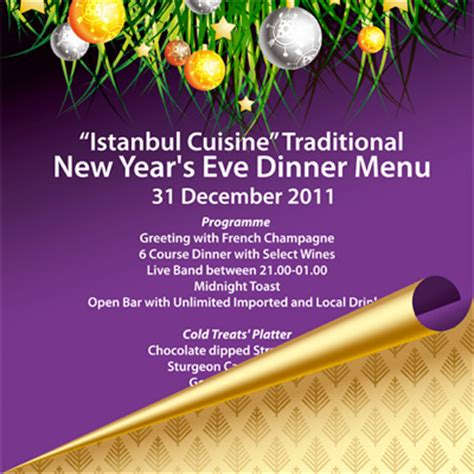 typical new year menu asitane restaurant ottoman palace cuisine istanbul turkey