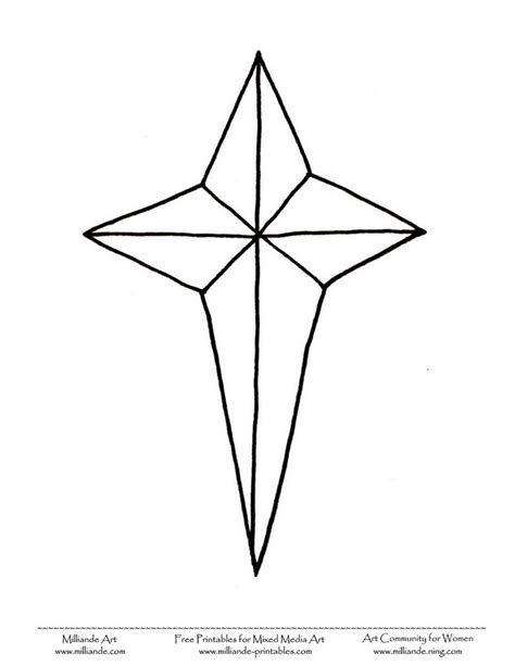 coloring page of the christmas star christmas star printable pictures christmas stars to