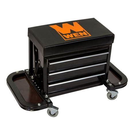 WEN Garage Glider Rolling Tool Chest Seat 73015   The Home Depot